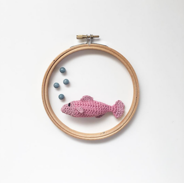 Ganas de verano! Tejiendo peces – Knitting is cool