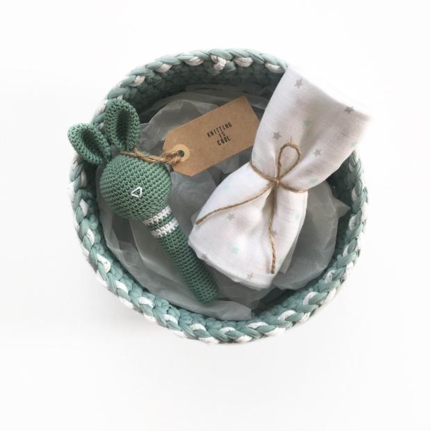 Pack de bienvenida bebés Knitting is cool sorteo Lettsdream y Aridnadm84 en instagram