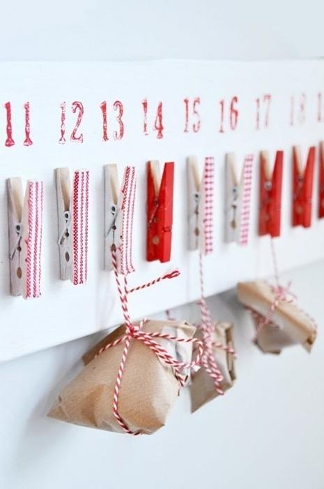 Calendario de Adviento inspiración Pinterest