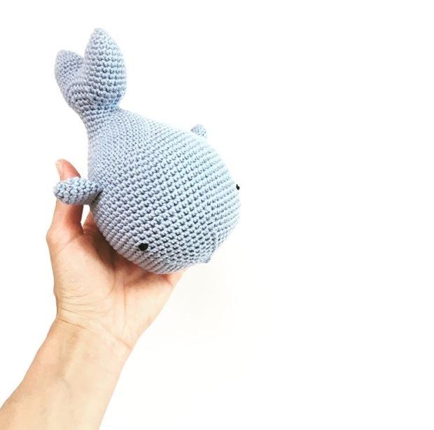Patrón gratuito ballena amigurumi – Knitting is cool