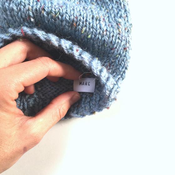 Gorro de lana para bebé. Patrón gratuito.